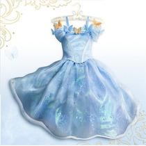 Vestido Fantasia Cinderela Azul - Pronta Entrega
