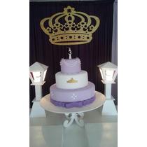 Coroa Princesa Decoração Painel Cenário De Festa Infantil