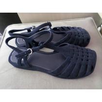 Sandália Aranha Azul-marinho Zaxy Flocada 35 Nova!