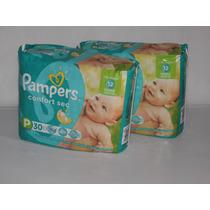 2 Pack Pampers Comfort Sec Pequeño 60 Pañales