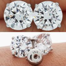 Arete Broquel .25 Carats Diamante De Grafito Oro 14k