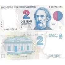 Billete 2 Pesos Convertibles Primer Diseño Reposicion