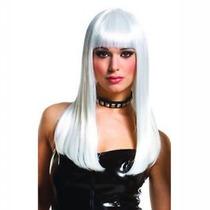Peluca Disfraz Cosplay Lacia Blanca Frozen Lady Gaga 60 Cm