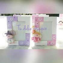 Souvenirs Portaretratos Decorados Muñequitas, Hadas, Buhos Y