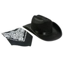 Aeromax Jr. Sombrero De Vaquero Con El Pañuelo Negro