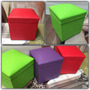Puff Baulera Botinero, 40 X 40, Ecocuero Varios Colores