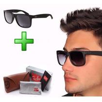 Óculos Ray Ban Rb4165 Justin Wayfarer Preto Frete Gratis
