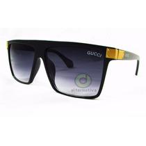 Óculos De Sol Quadrado Mascara Masculino Feminino
