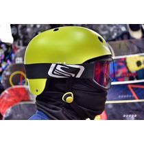 Casco Snowboard Y Ski Byloop Verde Cuello Térmico Incluido