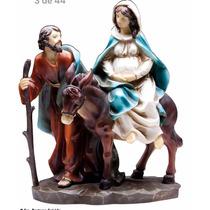 Imagem Nossa Senhora Do Desterro (gravida) E São José 10cm