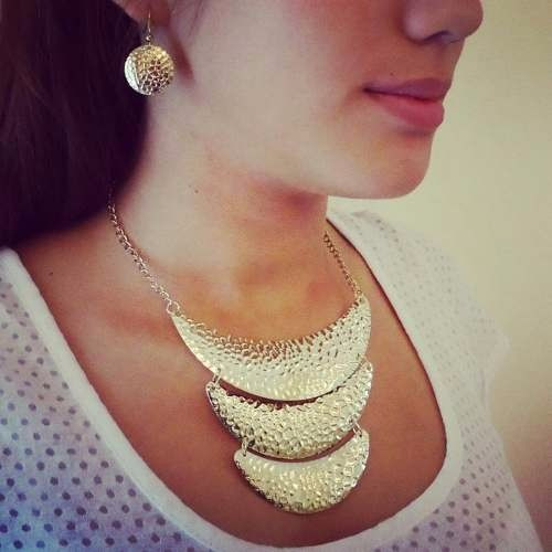 Set Collar Y Aretes Moda Bisuteria Fina Moda 2016 , $ 75.00 en Mercado Libre