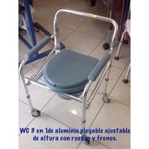 Silla Wc 3 En 1 De Aluminio Con Ruedas Y Frenos Envio Gratis