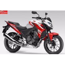Moto Honda Cb500f Año 2015 Color Blanco / Negro
