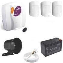 Kit Alarme Central Genno Ultra Slim 3 Residencial Comercial