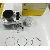 Kit Cilindro Strada Nx Xr 200 Pistao Anéis Metal Leve K9200