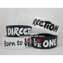Pulsera Silicona One Direction 1d 2x S/.18.00 Blanco Y Negro