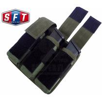 Porta Cargador De Pistola Triple Molle Verde S F T ®