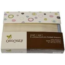 Osocozy Prefolds Crudos Pañales De Tela, Tamaño 1, 6 Conde