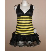 Vestido Tipo Disfraz De Abeja Para Mujer, Talla Chica 4-6