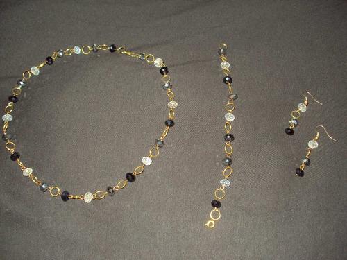 526583d8b32b Bisuteria Fina Elegante Collar Zarcillos Pulsera En Cristal - Bs ...