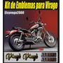 Kit De Emblemas En Relieve 3d Moto Yamaha Virago