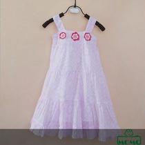 Vestido Importado Con Flores Al Crochet