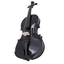Violino 4/4 Preto Estojo Luxo Arco Breu Black Friday