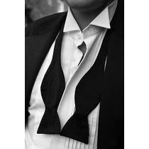 Humita Papillon Negro, Para Traje, Camisa, Boda, Formal