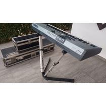 Teclado Yamaha Motif Xs8 Com V-stand Roland P/ 2 Teclados
