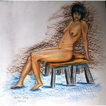 Desnudo Femenino, Pastel Graso_50x70cm