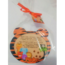 50 Convite Safari Tigre Urso Zebra Oncinha Aniversário 10x15