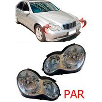 Par Farol Mercedes C180 C200 C220 C230 C240 Ano 04 2005 2006