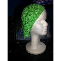 Gorros Tejido En Crochet Verde Boina Varios Somos Tienda