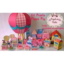 Kit Digital Silhouette Pepa Peppa Pig George Lama Tubete