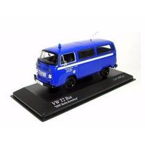 Miniatura Volkswagen T2 Bus Kombi Thw Azul 1:43 Minichamps