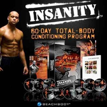 Insanity 10 Dvds Crossfit Tapout Xt Asylum Cardio Deluxe