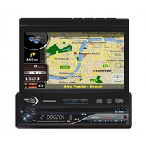 Dvd Player Retratil Napoli Gps Dvd-tv 9009 Tela 8 Tv Digital