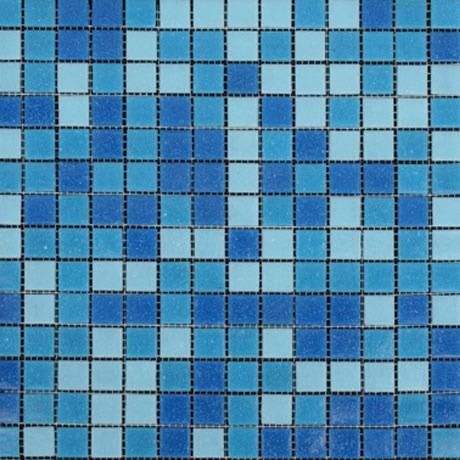Mosaico veneciano combinado azul para alberca 2 x 2 for Precio mosaicos para exterior