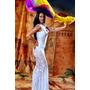 Vestido Blanco Bellydance Danzas Arabes