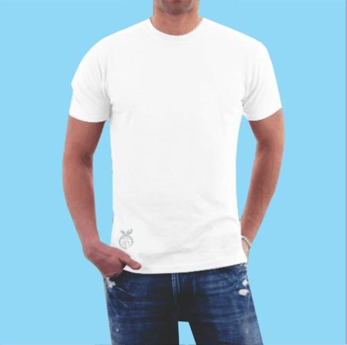 Camiseta lisa branca malha poliester varejo atacado jpg 500x498 Branca  modelos de camisas 0946810d957f5