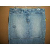 Falda Destroyed De Mezclilla Calvin Klein Jeans 6-32 P/dama