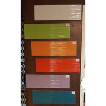 Ceramica De Pared 15x50 Española Colores Intensos