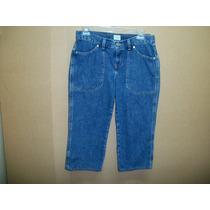 Capri De Mezclilla Calvin Klein Jeans P/dama 5-30 Azul