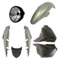 Kit Carenagem+ Farol Completo Fan 150 Prata Metalico 10