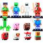 Set Complet Sw5 Minecraft Steve Pig Skel Compatible Con Lego