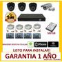 Cctv Kit Dvr De 8 Ch + Camaras + Disco Duro