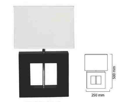 Lampara de mesa cuadrada con pantalla de tela th 970 - Pantallas de lamparas de mesa ...