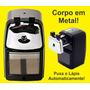Apontador De Mesa Lx Pw-01 Grande Preto / Metal