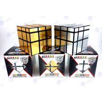 Cubo De Rubik Shengshou Mirror Cube 3x3x3 Plateado Y Dorado