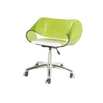 Cadeira Acrílica Envelope Base Office Em Alumínio - Promoção